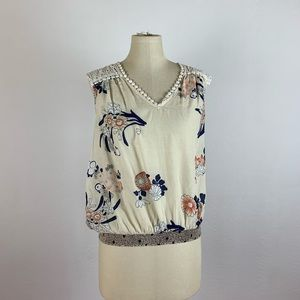 Anthropologie Leifnotes Floral Sleeveless Top
